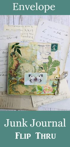 Envelope Junk Journal by Jane Chipp! - The Graphics Fairy Journal Cards, Junk Journal, Journal Ideas, How To Make An Envelope, Old Book Pages, Graphics Fairy, Library Card, Calling Cards, Family Memories