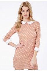Jessica Knitted Polka Dot Shift Dress