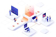 The 10 most inspirational graphic design trends for 2019 Isometric design Web And App Design, Flat Design, Design Design, Isometric Drawing, Isometric Design, Graphic Design Trends, Graphic Design Inspiration, Art Isométrique, Design Sites