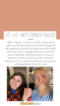 #unity #bettertogether #newepisode #podcasting #therecklesspursuit