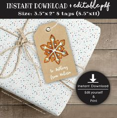 Excited to share the latest addition to my #etsy shop: Christmas Tags Printable - GingerBread - Gift Tags - Instant Download - Editable PDF File - Edit yourself #papergoods #tag #christmas #editablepdf #feliznavidad #happyholidays #xmastags http://etsy.me/2C2G0nK