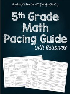 FREE 5th Grade Math Pacing Guide (with Rationale)