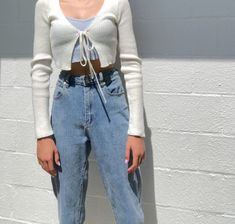 style outfits me on # Vintage Outfits, Retro Outfits, Mode Outfits, Trendy Outfits, Outfits With T Shirts, Cotton On Outfits, Vintage Fashion, Dress Shirts For Women, Vintage Clothing