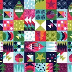 Makower UK - Wrap It Up - Holiday Patchwork in Multi