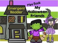 Halloween Mini Coloring Book by Scribbles and Scrabble Teaching Schools, Teaching Resources, Teaching Ideas, Halloween Worksheets, Emergent Readers, Blog Planner, Educational Activities, Mini Books, Coloring Books