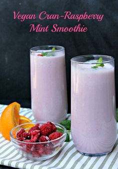Are you looking for a great way to start your morning or get a mid-day snack unlike any other? You will LOVE this Vegan Cran-Raspberry Mint Smoothie!