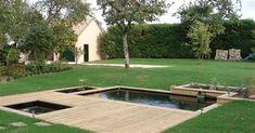 """Résultat de recherche d'images pour """"jardin zen piscine"""" Biologique, Hanging Out, Golf Courses, Sidewalk, Deck, Outdoor Decor, Home, Lemaire, Images"""
