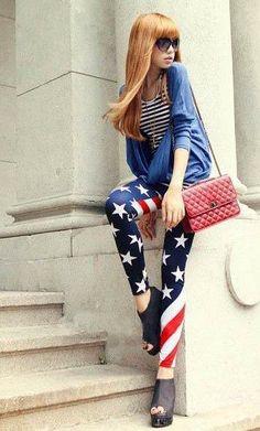 Leg Avenue 4th of July American flag dress costume