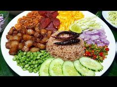 กับข้าวกับปลาโอ 604 : ข้าวคลุกกะปิ เครื่องแน่นมาก Rice Seasoned with Shrimp Paste Recipe - YouTube Shrimp Paste, Thai Recipes, Fried Rice, Acai Bowl, Grains, Thailand, Breakfast, Amazing, Food
