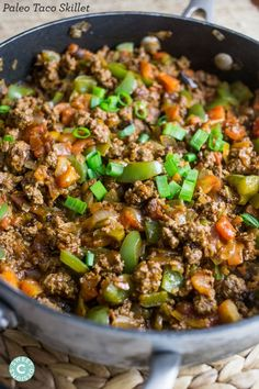 Paleo taco skillets- this quick and easy dinner is always a huge hit!