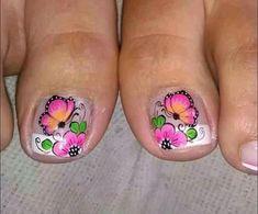 New Nail Art Design, Cute Animal Photos, Toe Nail Designs, Love Nails, Beauty Hacks, Pedicures, Sticker, Crochet Table Runner, Designed Nails