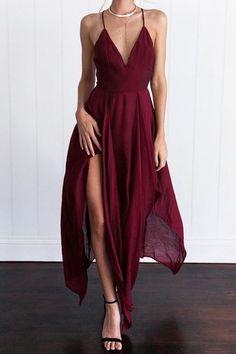 LOVE Prom Dresses 2017 Custom Made Burgundy Prom Dress,Spaghetti Straps Evening Dress,Chiffon Party Dress Straps Prom Dresses, Cheap Prom Dresses, Homecoming Dresses, Sexy Dresses, Casual Dresses, Dress Prom, Backless Dresses, Long Dresses, Formal Dress