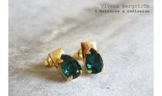 Viveka Bergstrom boucles emeraude drop #vivekabergstrom #boucles #bo #earrings #bouclesdoreilles #vert #emeraude #drop #doré #goldplated #green #emerald #cristal #crystal #retro #ss15