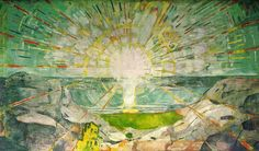 Munch 'The sun painting' Saw this in the exhibition at the Tate Modern this summer. Stunning. We need the sun now. via PaintingHere.com
