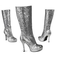 http://www.partycorner.nl/glitter-laarzen-zilver.html Glitter laarzen zilver