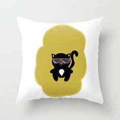 @paisleyprintsonline $20.00 http://society6.com/product/kool-kat-c34_pillow#25=193&18=126