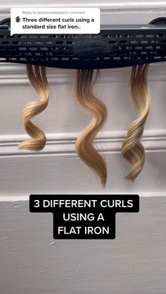 Curly Hair Tips, Easy Hairstyles For Long Hair, Curled Hairstyles, Flat Iron Hairstyles, Hairdos, Hair Curling Tips, Curl Hair With Straightener, Curling Iron Curls, Curling Iron Tutorial