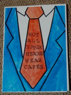 Super Dad fathers day card. $3.50, via Etsy.