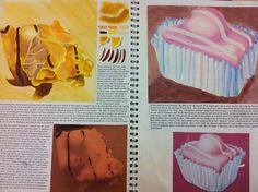 Cake studies with paint