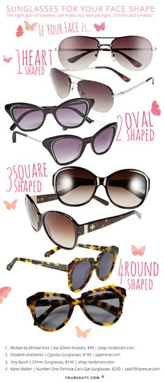 ac10a925f56 Flattering Sunglasses by Face Shape