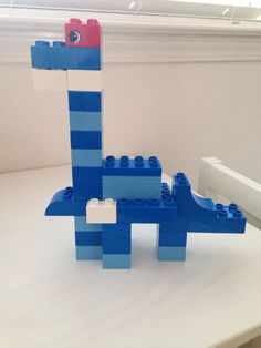 Lego Duplo Dinosaur--Challenge the kids to build a dinosaur using Legos. Dinosaurs Preschool, Dinosaur Activities, Lego Activities, Lego For Kids, Diy For Kids, Crafts For Kids, Dinosaur Projects, Lego Projects, Dinosaur Crafts Kids