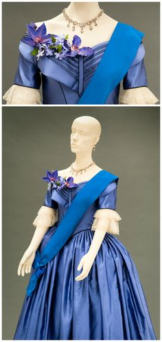 Costume worn by Emily Blunt in the role of Queen Victoria in the film Young Victoria (2009). Designed by Sandy Powell. Images via the FIDM Museum Blog.