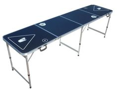 Go Pong Brand 8'  Beer Pong Table - Black - Perfect for parties and tailgates!