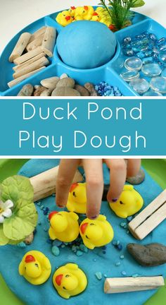 Duck Pond Play Dough Invitation - Fantastic Fun & Learning Duck Pond Play Dough Invitation for Kids Need excellent helpful hints about arts and crafts? Playdough Activities, Preschool Activities, Family Activities, Indoor Activities, April Preschool, Painting Activities, Motor Activities, Family Games, Therapy Activities