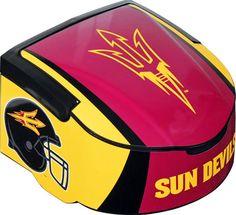 Arizona State Sun Devils 12-Pack Grandstand Maroon Cooler Basketball Season, Arizona State University, March Madness, Broncos, 4 Life, Bicycle Helmet, Fork, Devil, Sun