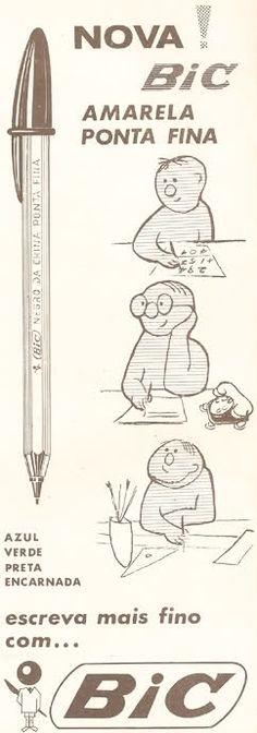 Bic de 1969 - o design forte é percebido no que foi e no que é a caneta.