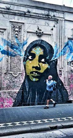 Arte callejero en Montserrat, Buenos Aires