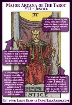 The origins of the Tarot are surrounded with myth and lore. The Tarot has been thought to come from places like Wicca, Pagan, Tarot Cards Major Arcana, Justice Tarot, Chakras, Rider Waite Tarot Cards, Tarot Cards For Beginners, Tarot Card Meanings, Card Reading