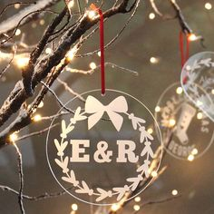 personalised initials christmas decoration by becky broome | notonthehighstreet.com