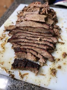 Use Claude's BBQ Brisket Marinade and one picture is worth a thousand bites! ;) Brisket Marinade, Bbq Brisket, Tasty Image, Meat, Food, Eten, Meals, Diet