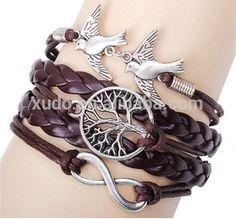 ONLY FOR OpenSky free shipping multi strand bracelet DIY leather bracelet with…