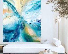 Etsy :: Your place to buy and sell all things handmade Original Artwork, Original Paintings, Acrylic Pouring Art, Large Wall Art, New Art, Art Pieces, Abstract Art, Resin, Beach Signs