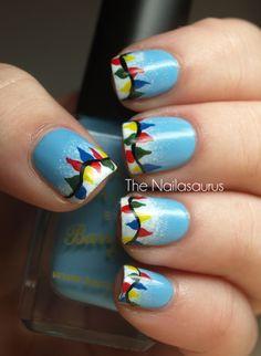 The Nailasaurus | UK Nail Art Blog: 12 Days of Christmas Nails: Day 8... All of the Lights
