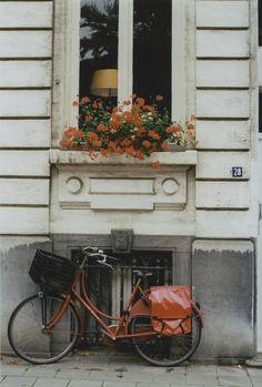 just the right via Patterson Maker Retro Stil, Window Boxes, Vintage Bicycles, Windows And Doors, Architecture, Beautiful Places, Lovely Things, In This Moment, Cool Stuff