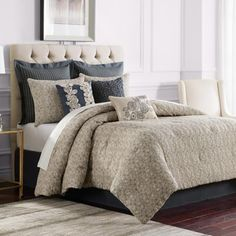 Sonoma Comforter Set in Grey - BedBathandBeyond.com  WANT THIS