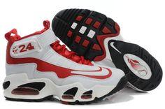 Nike Air Max Griffey Skor Kvinna Vit Röd Svart 53463
