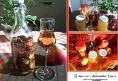 Ágyas pálinka 2. - aszalt gyümölcsös Gourmet Gifts, Wine Decanter, Drinking Tea, Barware, Alcoholic Drinks, Recipies, Glass, Food, Smoothie