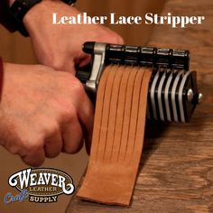 Cutting fringe has never been easier! Learn how to cut fringe with Chuck Dorset… Cutting fringe has never been easier! Learn how to cut fringe with Chuck Dorsett using Weaver Leather Craft Supply's Leather Lace Stripper Leather Art, Sewing Leather, Leather Fringe, Leather Cuffs, Leather Design, Leather Earrings, Leather Tooling, Leather Jewelry, Leather And Lace