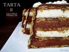 La tarta de galletas con el mejor de los rellenos, 2 chocolates en mousse! Mmmmm