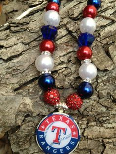 Texas Rangers  necklace by Beckyschunkystuff on Etsy, $35.00