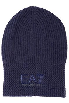 Emporio Armani EA7 men's beanie hat blu - Brought to you by Avarsha.com