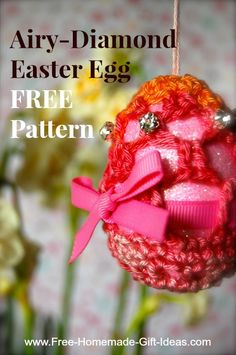 Homemade easter gift ideas classical colorful crochet easter egg free easter crochet patterns diamond easter egg with this easter crochet pattern i thought to negle Choice Image