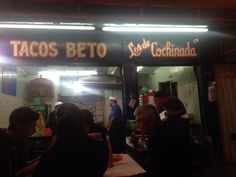 Tacos Beto - México, D.F., Mexico. Antes de la Narvarte ya estaba el mal encarado de Don Beto..