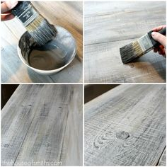 How to make new wood look like old barn board. Holy cow this is so amazing and looks so easy! How to make new wood look like old barn board. Holy cow this is so amazing and looks so easy! Diy Projects To Try, Home Projects, Furniture Projects, Diy Furniture, Furniture Makeover, Furniture Refinishing, Furniture Design, Furniture Dolly, Furniture Vintage