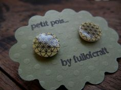 Petit Pois Earrings with Circle of Life pattern by Fullofcraft on Etsy https://www.etsy.com/listing/95687759/petit-pois-earrings-with-circle-of-life