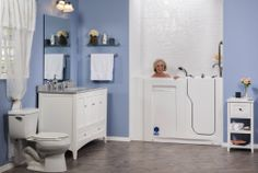Beautiful tub we installed. Handicapped accessible.
